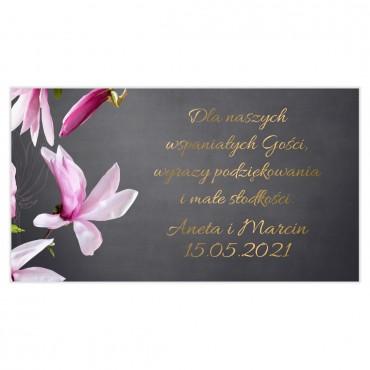 Etykiety na ciasto weselne Floral 12