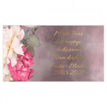 Etykiety na ciasto weselne Floral 13