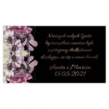 Etykiety na ciasto weselne Floral 15