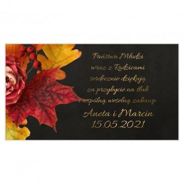 Etykiety na ciasto weselne Floral 17