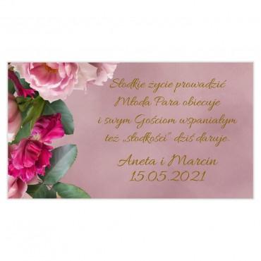 Etykiety na ciasto weselne Floral 18