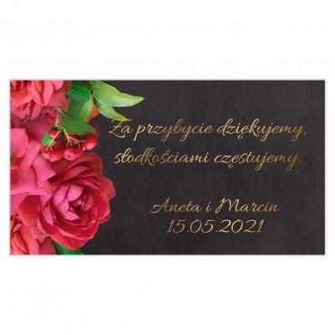 Etykiety na ciasto weselne Floral 19