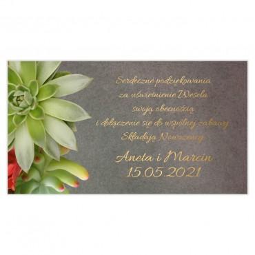 Etykiety na ciasto weselne Floral 20