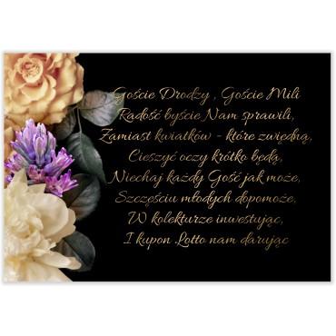 Bileciki do Zaproszeń Floral 01