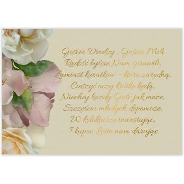 Bileciki do Zaproszeń Floral 03