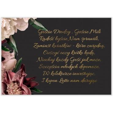 Bileciki do Zaproszeń Floral 02