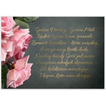 Bileciki do Zaproszeń Floral 04