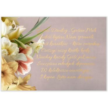 Bileciki do Zaproszeń Floral 05
