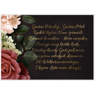 Bileciki do Zaproszeń Floral 06
