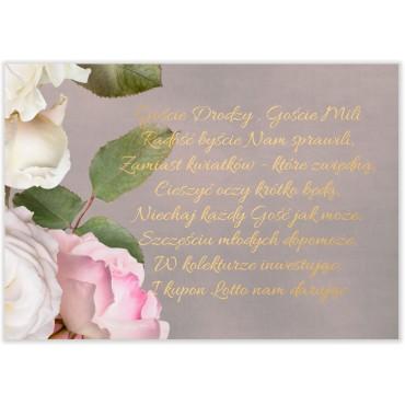 Bileciki do Zaproszeń Floral 07