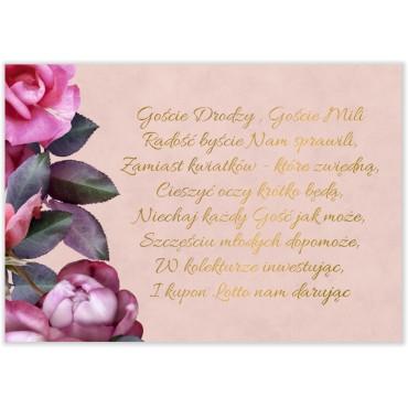 Bileciki do Zaproszeń Floral 08