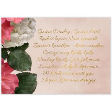 Bileciki do Zaproszeń Floral 09
