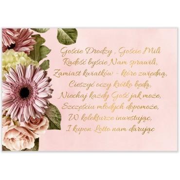 Bileciki do Zaproszeń Floral 10