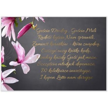 Bileciki do Zaproszeń Floral 12
