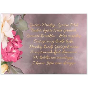 Bileciki do Zaproszeń Floral 13