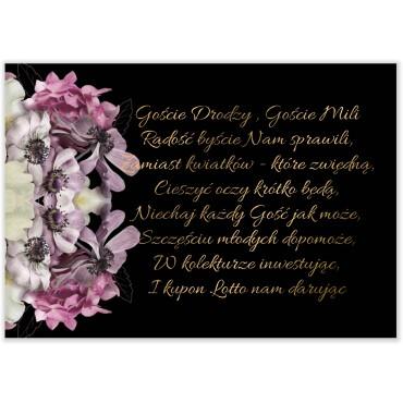 Bileciki do Zaproszeń Floral 15