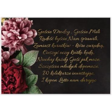 Bileciki do Zaproszeń Floral 16