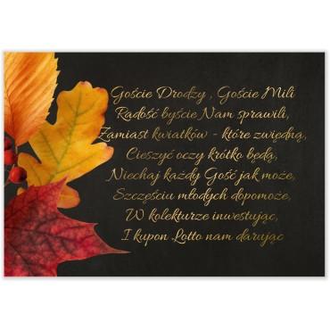 Bileciki do Zaproszeń Floral 17