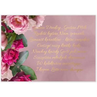 Bileciki do Zaproszeń Floral 18