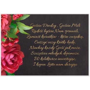 Bileciki do Zaproszeń Floral 19