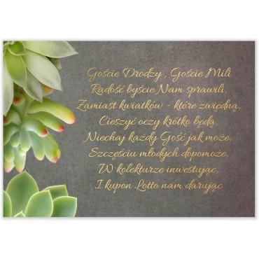 Bileciki do Zaproszeń Floral 20
