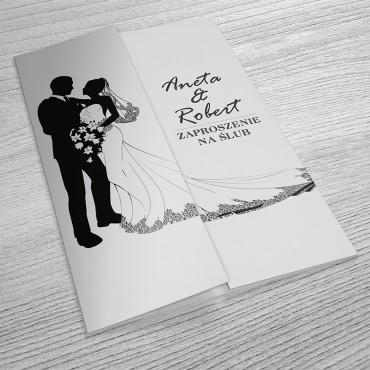 Zaproszenia Ślubne Black&White nr 13