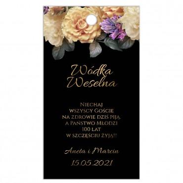 Zawieszki na Wódkę Weselną Floral 01