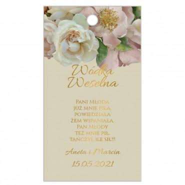 Zawieszki na Wódkę Weselną Floral 03