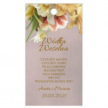 Zawieszki na Wódkę Weselną Floral 05