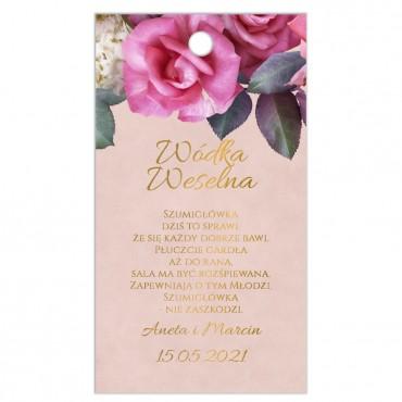Zawieszki na Wódkę Weselną Floral 08