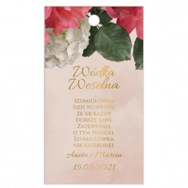 Zawieszki na Wódkę Weselną Floral 09