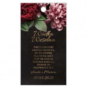 Zawieszki na Wódkę Weselną Floral 16
