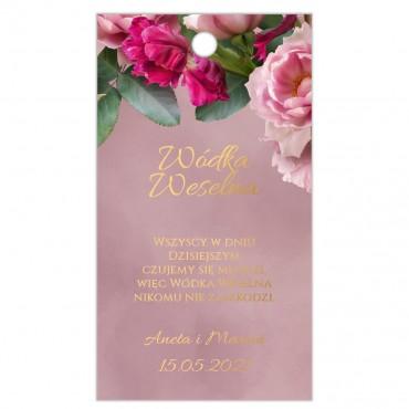 Zawieszki na Wódkę Weselną Floral 18