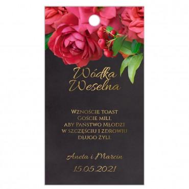 Zawieszki na Wódkę Weselną Floral 19