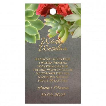 Zawieszki na Wódkę Weselną Floral 20
