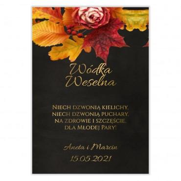 Naklejki na Wódkę Weselną Floral 17