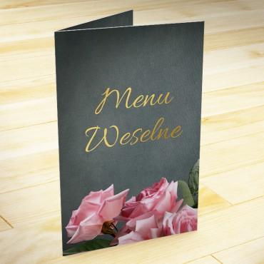 Menu weselne Floral 04