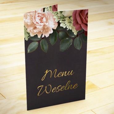 Menu weselne Floral 06
