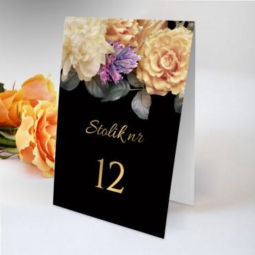 Numery stolików na wesele Floral 01