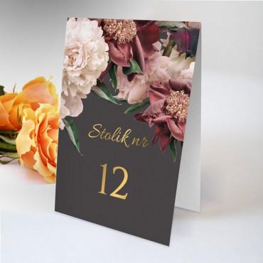Numery stolików na wesele Floral 02