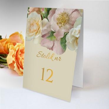 Numery stolików na wesele Floral 03