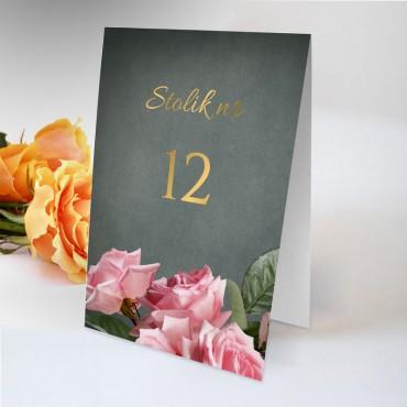 Numery stolików na wesele Floral 04
