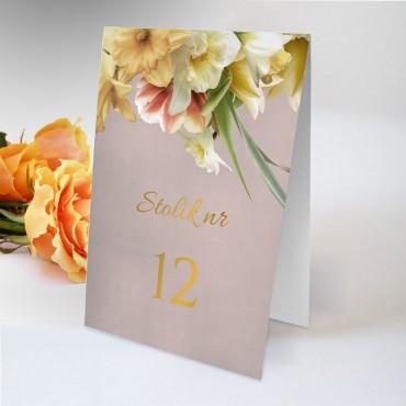 Numery stolików na wesele Floral 05
