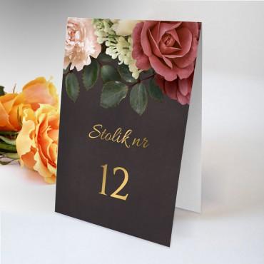 Numery stolików na wesele Floral 06