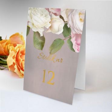Numery stolików na wesele Floral 07