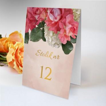 Numery stolików na wesele Floral 09