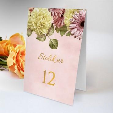 Numery stolików na wesele Floral 10
