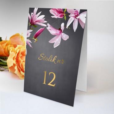 Numery stolików na wesele Floral 12