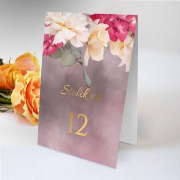 Numery stolików na wesele Floral 13