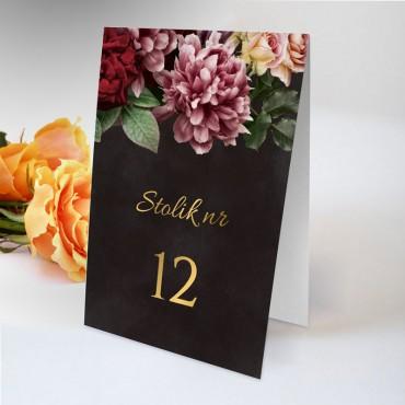 Numery stolików na wesele Floral 16